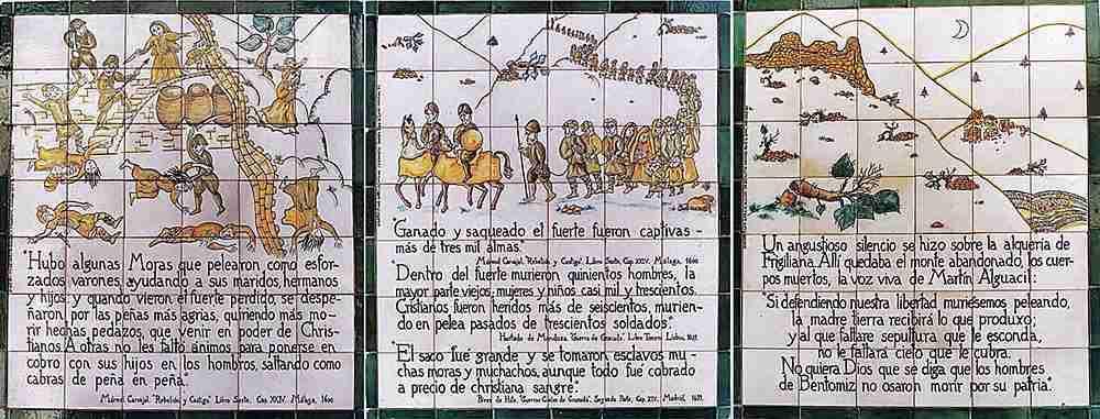 Placas De La Historia De Frigiliana
