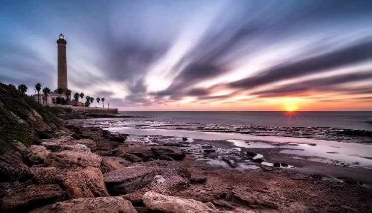 Playas De Chipiona. El Faro Mas Alto Del España