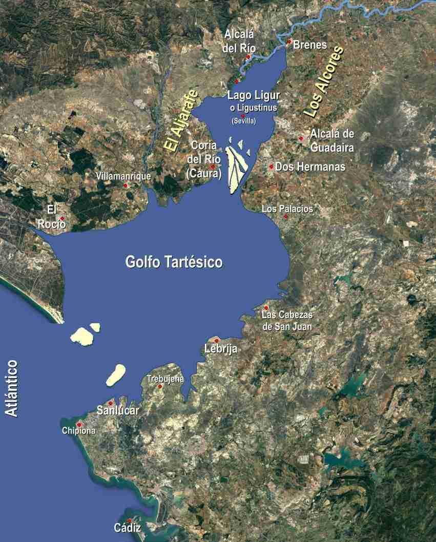Accidente Geográfico Denominado Golfo Tartésico, Que Además Se Comunicaba Con El Lago Ligur