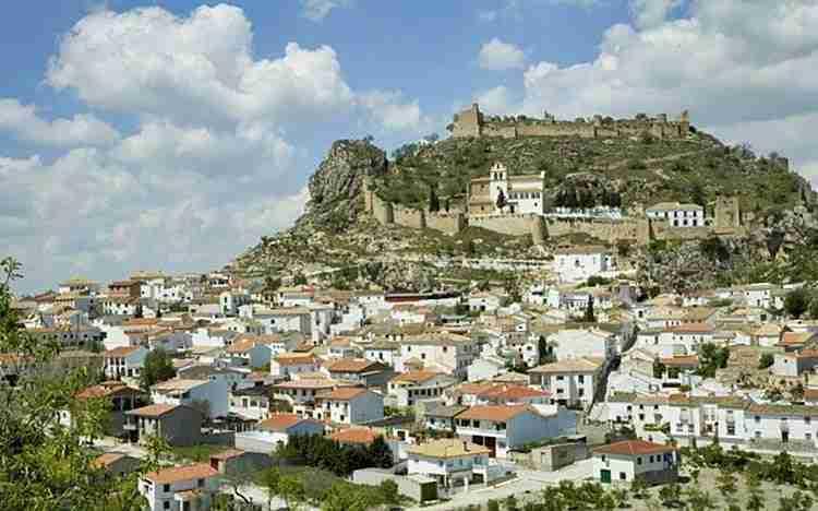 Vista Del Pueblo De Moclin En Granada