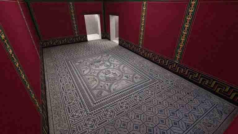 Mosaico De Los Amores Castulo.  Yacimiento De Castulo En Linares